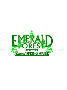 Emerald Forest Natural Spring Water